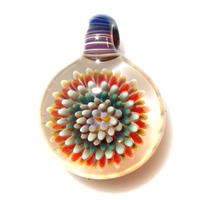 [MCPF-63]mini clear poisonous flower pendant