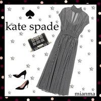 Kate Spade☆ ハウンドトゥース シフォン ドレス☆SALE