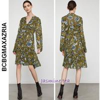 ★新作セール♪★BCBGMAXAZRIA フローラルパフスリーブドレス★