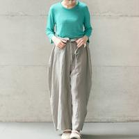 [KENLAND] ゴム地7分袖プルオーバー / Linen   /  全3色 |Women's
