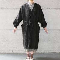 [Osode] キモノ袖割烹着絣 / 黒(中)  Women's