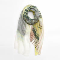 [marumasu]  Cotton gauze stole  / Mr.ペイズリー  /  light green