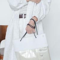 [KAGARI YUSUKE] トートバッグ 防音シート/ Leather / white/ WF17-01