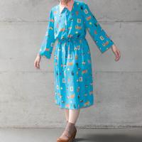 [mannine] 襟付きワンピース / BELONGINGS SKY BLUE BUGS PINK|Women's