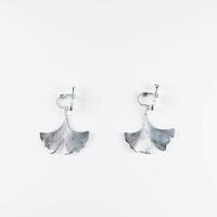 [Sa.Ya.] icho  silver  earring  /   L