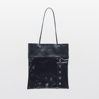 [KAGARI YUSUKE] トートバッグ 塗装シート/ Leather / black / WF17-01