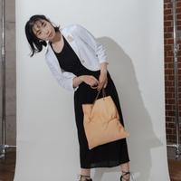 [KAGARI YUSUKE] スキントートバッグ /Horse  Leather / beige / s17-01
