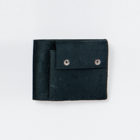 [KAGARI YUSUKE] 二つ折り財布 / Leather /black