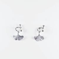 [Sa.Ya.] icho  silver  earring  /   M
