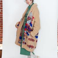 [COOHEM]一枚でしっとり暖かいガウンコート/BEIGE|Unisex