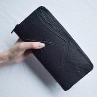 [KAGARI YUSUKE] 長財布ラウンドジップ/ Leather /black