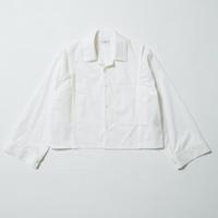 70's  CUSTOM OPEN COLLAR SHIRT  【WHITE】