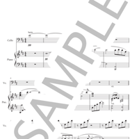 玉置浩二「行かないで」楽譜(Cello&Piano YUAN Ver.)