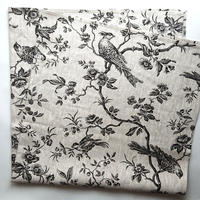 完売【World fabric/FRANCE】風呂敷 Toile de Jouy/BLACK