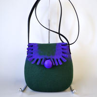 Shoulder bag ♪dark green & purple