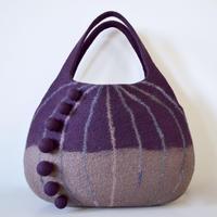 nuts bag ♪dark red purple & brown