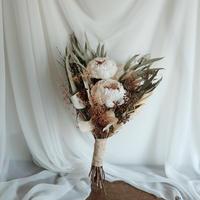 wedding bouquet & boutonniere no,009