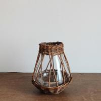 flower vase  / かご編み A-S