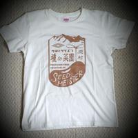 種to菜園オリジナルTシャツ   (レディス バニラホワイト・Ⅼ)