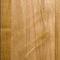 チェーンイヤリングス(両耳ピアス)chain earrings/0058