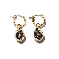 ストーンドロップイヤリング(両耳ピアス・イヤリング)/Drop earring with stone/ul0201