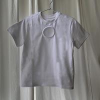 カットアウトクロップドTシャツ/Cut out cropped Tee/ul0251