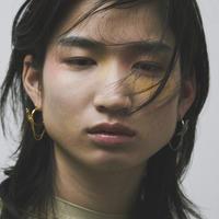 アークドダブルチェーンイヤリング(両耳ピアス・イヤーカフ)/Arced double chain earrings/ul2008