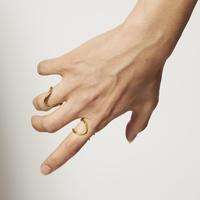 カーブシンプルリング/curve simple ring/ul0245