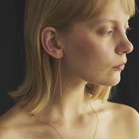 ピアス付きチェーンネックレス/Chain necklace with earring/ul0225