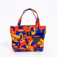Mini tote Bag 「屋上庭園」orange