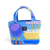 Mini tote Bag「ランプフラワー」 blue
