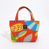 Mini tote Bag「うずまきフラワー」red