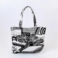 TANSAN Tote Bag M 「散歩道」black