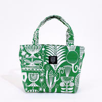 Mini tote Bag 「植物園」green