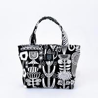 Mini tote Bag 「植物園」black
