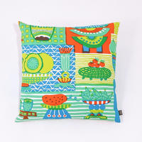 Cushion Cover「Welcome Fruits」green