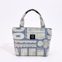 Mini tote Bag 「木の彫刻」gray