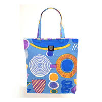 Odekake Bag 「Lamp Flower」blue