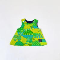 Bi TANSAN Baby Tunic「Yamanami」green