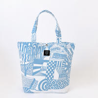 TANSAN Tote Bag L 「散歩道」sky blue