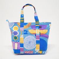 Travel Bag 「Lamp Flower」blue