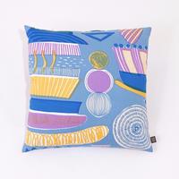 Cushion Cover「Lamp Flower」blue