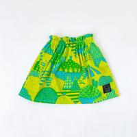 Bi TANSAN Short Skirt「Yamanami」green