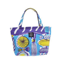 Mini tote Bag 「TEA TIME」blue