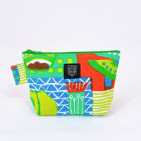 Machi Pouch Mサイズ「Welcome Fruits」green