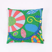 Cushion Cover「Uzumaki Flower」green