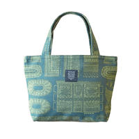 Mini tote Bag 「木の彫刻」green