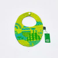 Bi TANSAN Bib ●「Yamanami」green