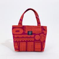 Mini tote Bag 「木の彫刻」purple