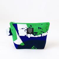 Machi Pouch Mサイズ「石」blue green